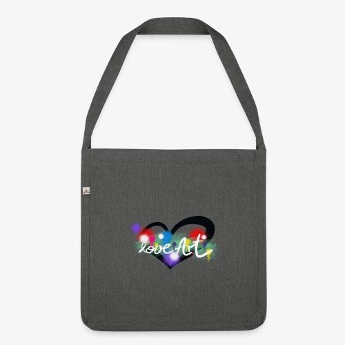 Love Art - Schultertasche aus Recycling-Material