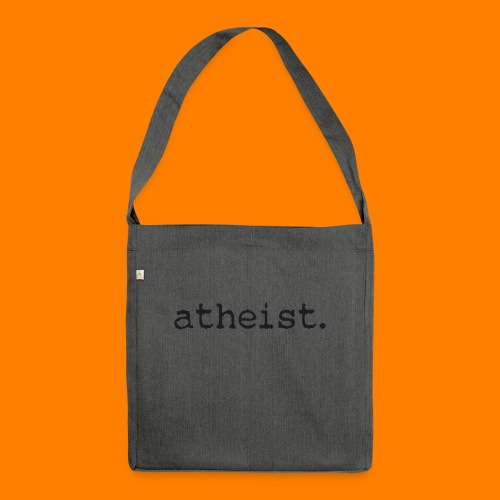 atheist BLACK - Shoulder Bag made from recycled material