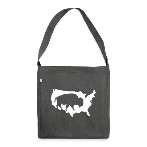 Bison Indianer Büffel Prärie Cowboys Amerika USA - Shoulder Bag made from recycled material