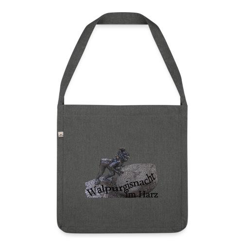 walpurgisnacht harz hexe 1 - Schultertasche aus Recycling-Material