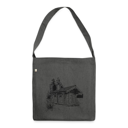 The sauna is my happy place - Shoulder Bag made from recycled material