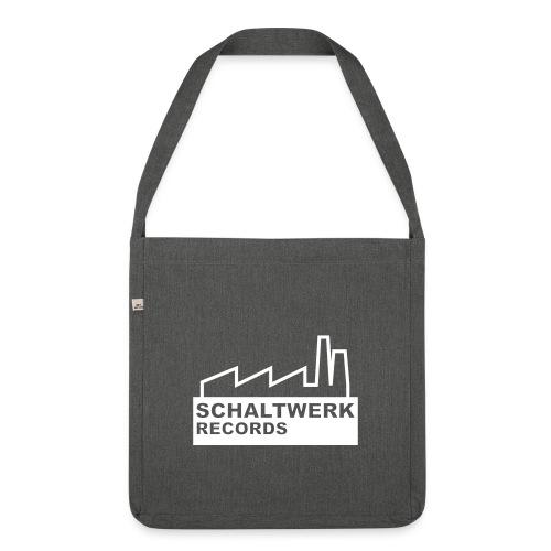 schaltwerk logo orginal - Schultertasche aus Recycling-Material