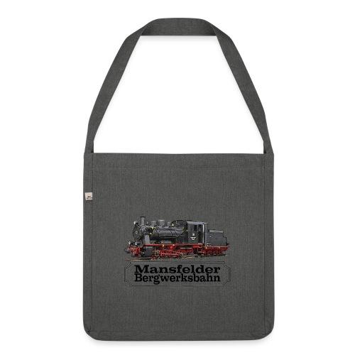 mansfelder bergwerksbahn dampflok 1 - Schultertasche aus Recycling-Material