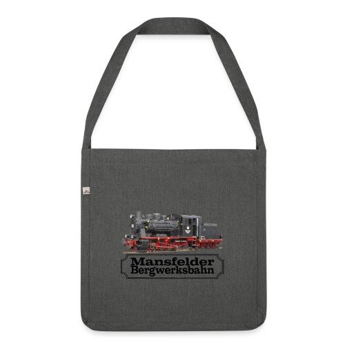 mansfelder bergwerksbahn dampflok 3 - Schultertasche aus Recycling-Material