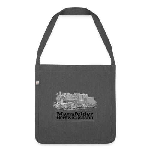 mansfelder bergwerksbahn dampflok 2 - Schultertasche aus Recycling-Material