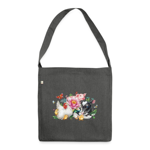 animals summer - Shoulder Bag made from recycled material