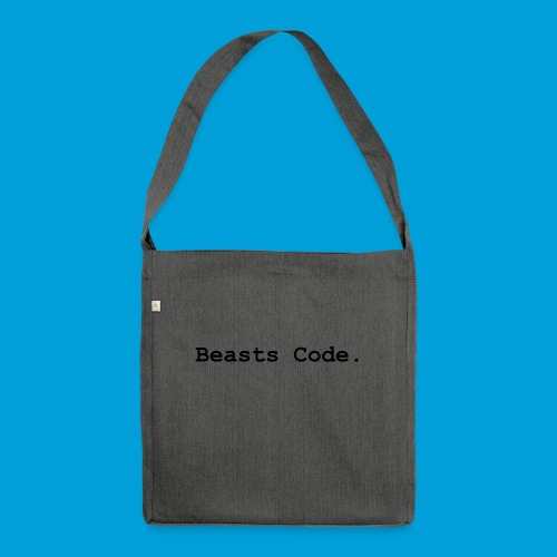 Beasts Code. - Shoulder Bag made from recycled material