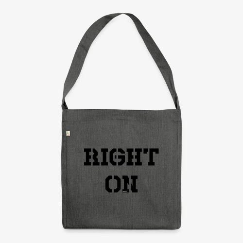 Right On - black - Schultertasche aus Recycling-Material
