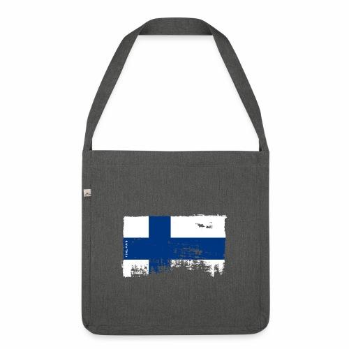 Suomen lippu, Finnish flag T-shirts 151 Products - Olkalaukku kierrätysmateriaalista