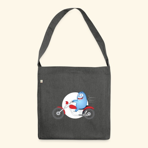 Cubanty mit Motorrad - Schultertasche aus Recycling-Material