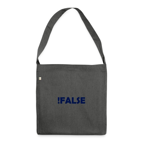 !False - Schultertasche aus Recycling-Material