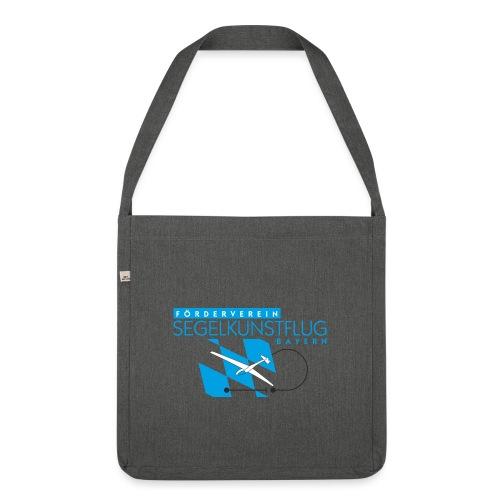 Design 02 (1-facher Druck vorne) - Schultertasche aus Recycling-Material