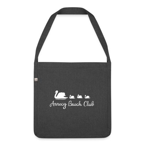 Annecy Beach club - Cygnes - Sac bandoulière 100 % recyclé