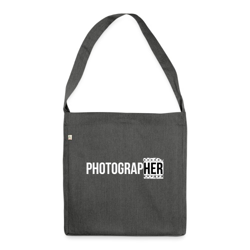 Photographing-her - Shoulder Bag made from recycled material