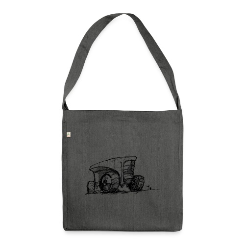 Futuristic design tractor - Shoulder Bag made from recycled material