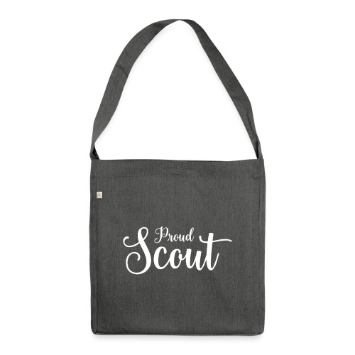 Proud Scout Lettering White - Schultertasche aus Recycling-Material