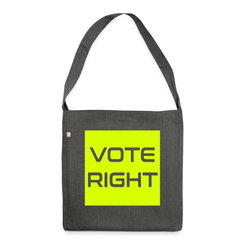 vote right - Schultertasche aus Recycling-Material