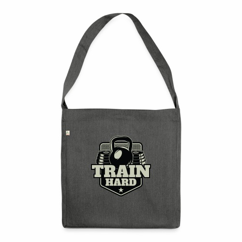 Train Hard - Schultertasche aus Recycling-Material