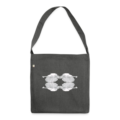 Rib cage - Shoulder Bag made from recycled material