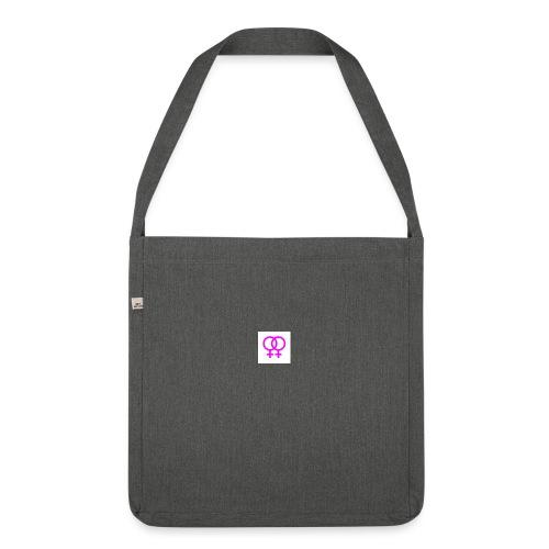 lesbian logo - Sac bandoulière 100 % recyclé