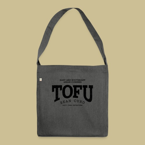 Tofu (black oldstyle) - Schultertasche aus Recycling-Material