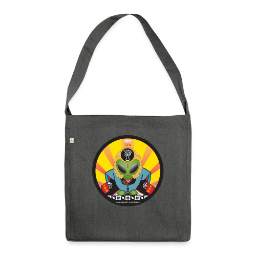 Parvati Records Psyvader by Catana jp - Shoulder Bag made from recycled material