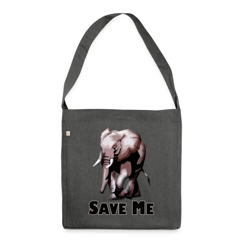 Elefant - SAVE ME - Schultertasche aus Recycling-Material