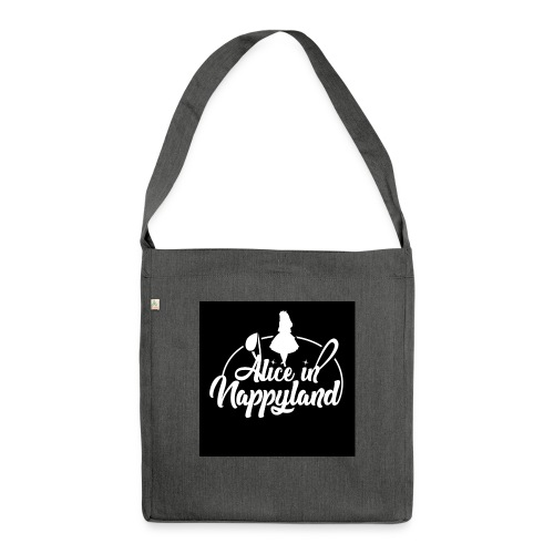 Alice in Nappyland TypographyWhite 1080 - Shoulder Bag made from recycled material