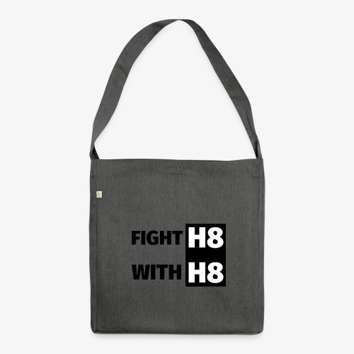 FIGHTH8 dark - Shoulder Bag made from recycled material