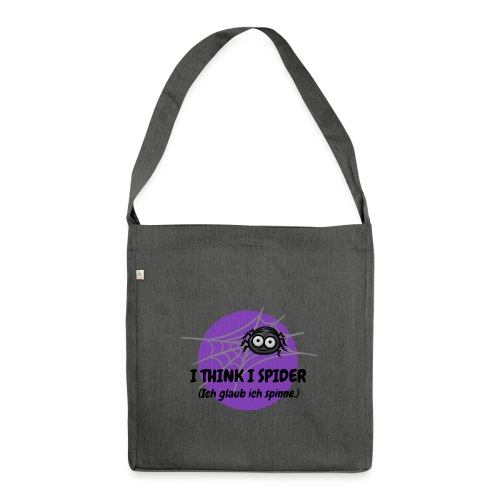 I think I spider! - Schultertasche aus Recycling-Material