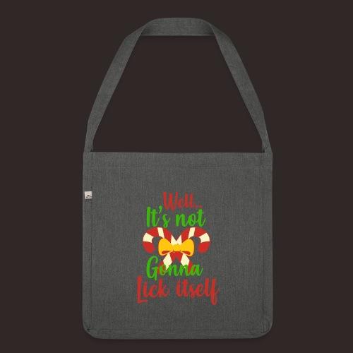 Weihnachten | lecken Zuckerstange Masche xmas - Schultertasche aus Recycling-Material