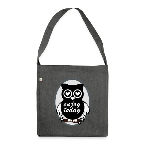Enjoy today - Schultertasche aus Recycling-Material
