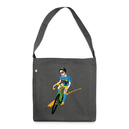 The Bicycle Girl - Schultertasche aus Recycling-Material