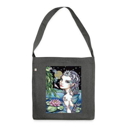 Pisces girl Fische Mädchen - Shoulder Bag made from recycled material