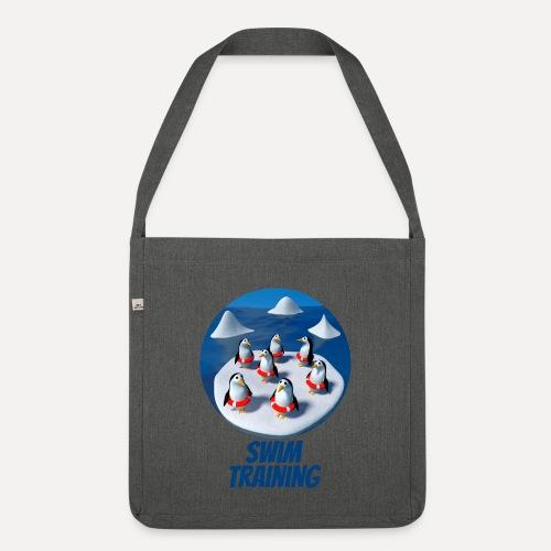 Pinguine beim Schwimmunterricht - Shoulder Bag made from recycled material