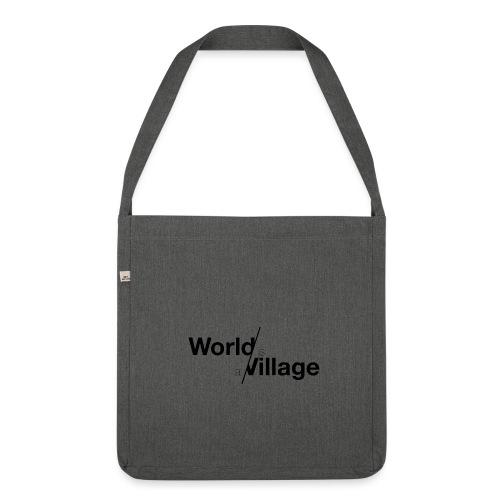 world is a village - Sac bandoulière 100 % recyclé