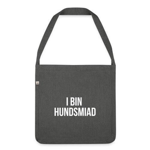 Vorschau: I bin hundsmiad - Schultertasche aus Recycling-Material
