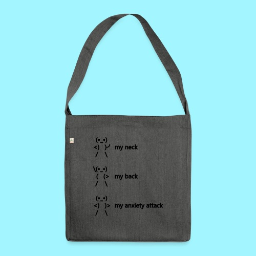 neck back anxiety attack - Shoulder Bag made from recycled material