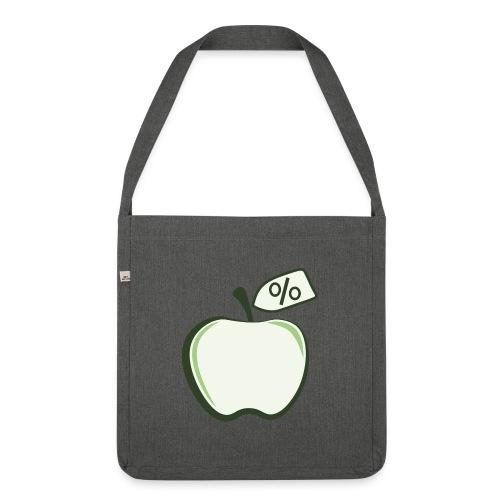 Sund på budget logo til mørke produkter - Skuldertaske af recycling-material