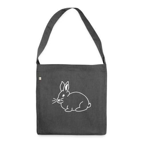Hase, rabbit, Ostern, süß - Schultertasche aus Recycling-Material