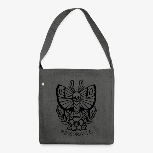 Traditional Tattoo Moth - Shoulder Bag made from recycled material