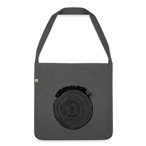 Kattoo Schwarz - Schultertasche aus Recycling-Material