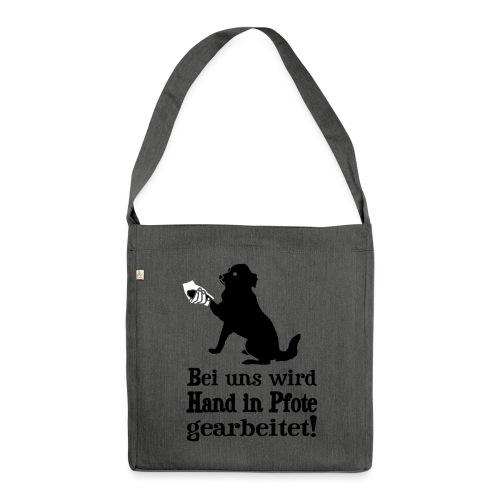 Hund Hundetraining Hundeschule Hundehalter Spruch - Schultertasche aus Recycling-Material