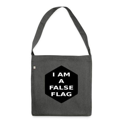 I am a false flag - Schultertasche aus Recycling-Material