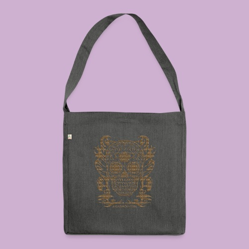 SKULL FLOWERS LEO - Schultertasche aus Recycling-Material