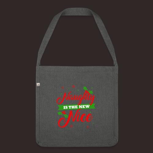 Weihnachten | unartig artig nett - Schultertasche aus Recycling-Material