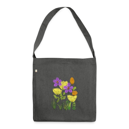 spring flower - Schultertasche aus Recycling-Material