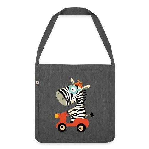 zebra png - Schultertasche aus Recycling-Material