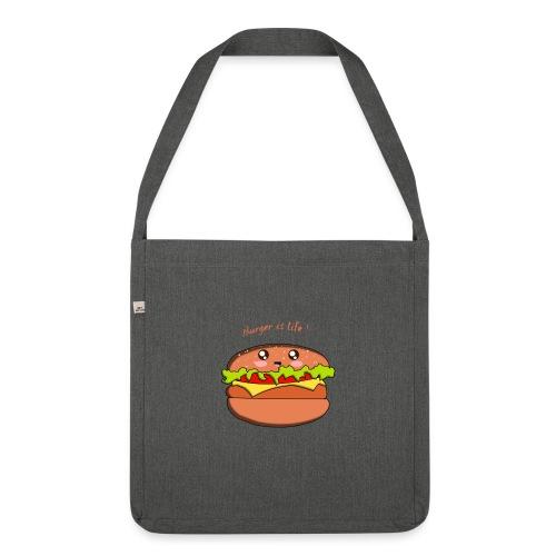 hamburger - Sac bandoulière 100 % recyclé