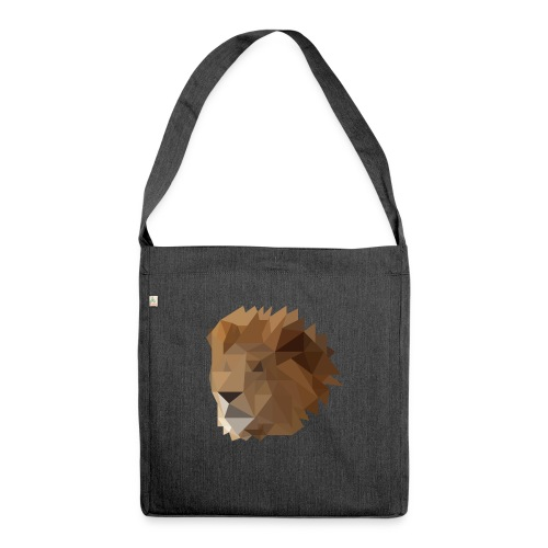 Löwe - Schultertasche aus Recycling-Material